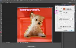 photoshop cs6 ワンコ 切抜き
